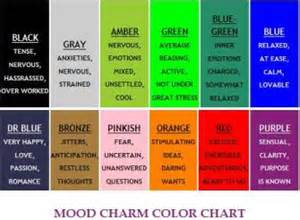 mood ring color code pin mood ring color meaning chart on