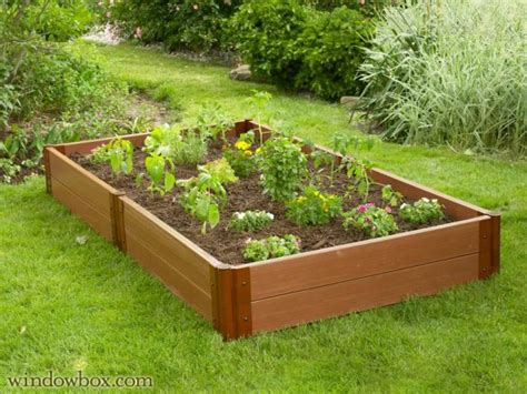 composite raised garden bed composite raised garden beds raised bed planters windowbox com