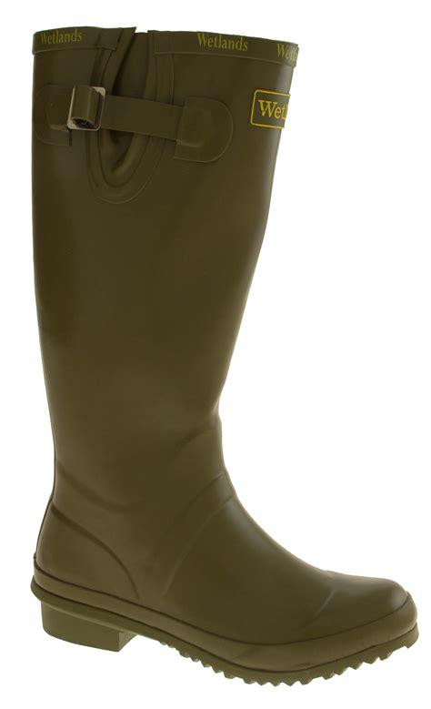 garden boots womens wellington boots green wetlands knee high festival