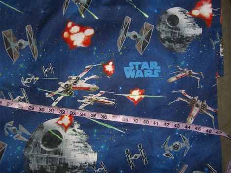 wars fabric deathstar fighters cotton print quilt sewing