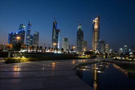 Kuwait City by Spectacular Lightshows Fascinating Greenery Water