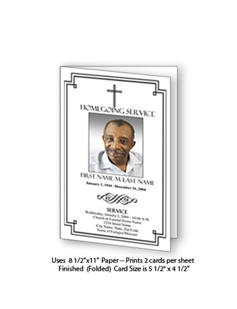funeral memorial card template publisher free funeral program templates funeral card template