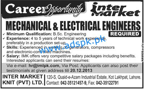 Career Path For Mechanical Engineer With Mba by Opportunities For Mechanical And Electrical Engineers