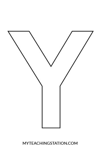Related Keywords Suggestions For Letter Y Station Coloring Page