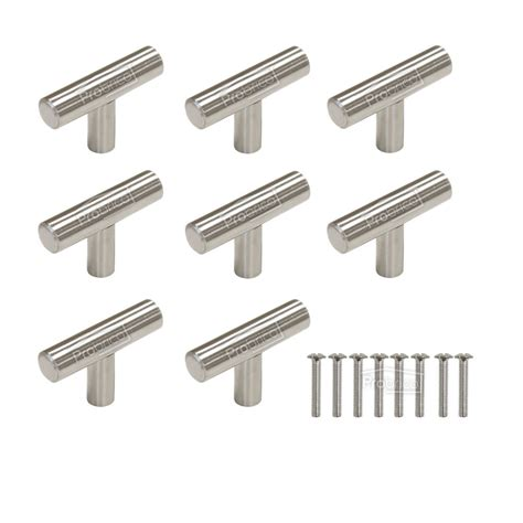 stainless steel knobs for kitchen cabinets 1 2 quot kitchen cabinet t bar door handles pulls knobs
