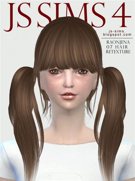 sims 4 hairs butterflysims side ponytail hair 164 js sims 4 raonjena 07 hair retexture sims 4 downloads