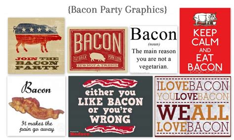 bacon themed decorations the bacon 2012