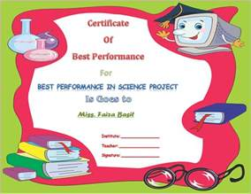 Science Award Certificate Template by Best Science Student Award Certificate Template Award