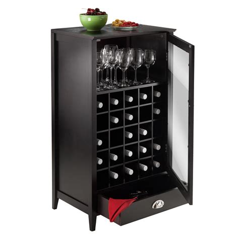 Wine Cabinet by Winsome Wood 25 Bottle Slot Modular Bordeaux