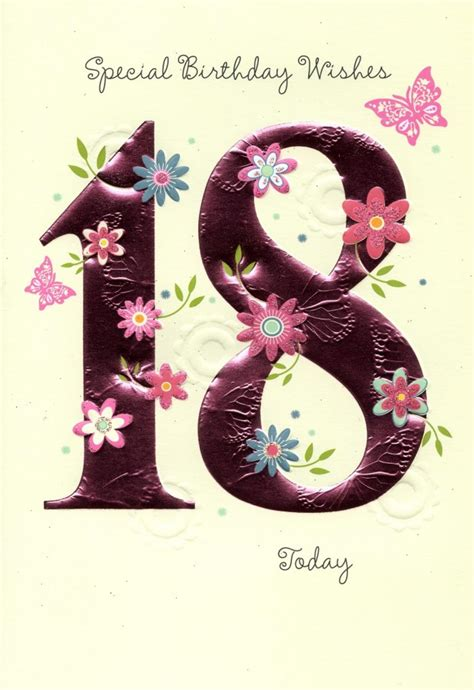 18th Birthday Cards Happy 18th Birthday Greeting Card Cards Love Kates