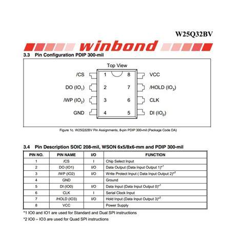 Winbond W25q32bvsig 25q32bv w25q32bvsig