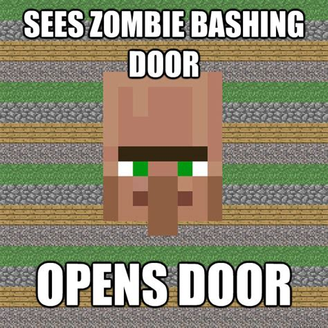 Funny Villager Memes - by now i am convinced that villagers are suicidal