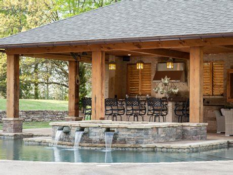 pool houses cabanas landscaping network rustic mississippi pool house landscaping network