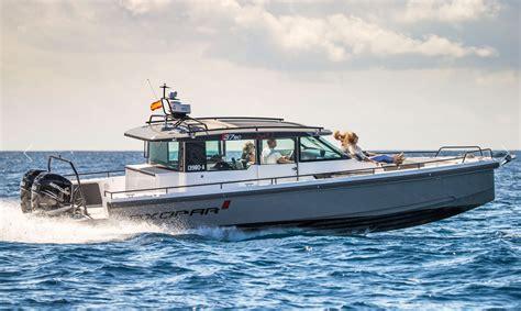 miami boat show axopar new axopar 37 a fun fast and very cool cruiser from