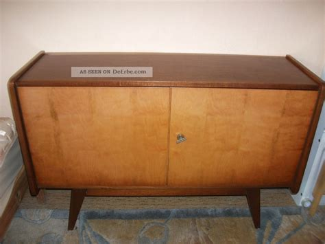 schrank 60er jahre teak sideboard kommode flach hifi tv schrank 60er 70er