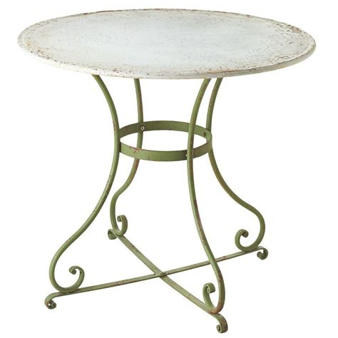 Filament Design Sundry Green Round Metal Bistro Patio Bistro Table Patio