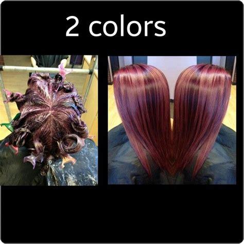 hair color and foil placement techniques pinwheel color technique professionnelle pinterest