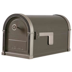 home depot mailbox gibraltar mailboxes high grove post mount mailbox in light