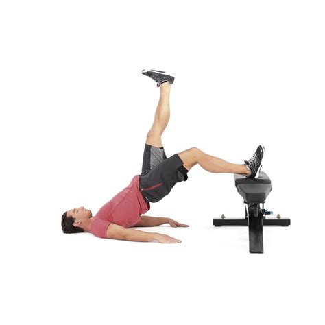 leg raise on bench single leg hip raise with foot on bench video watch