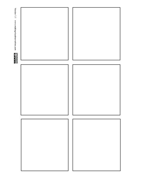 6 panel comic template 6 panel comic book page