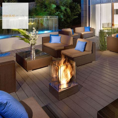 Outdoor Ventless Fireplace by Ecosmart Mini T Ventless Outdoor Fireplace Stardust
