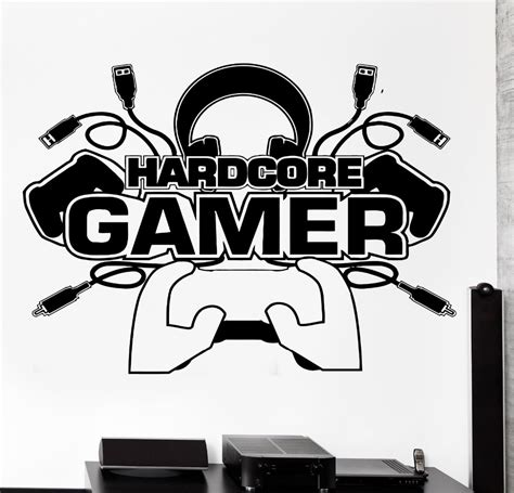 Tokomonster Gamer 4 Wall Decal Sticker Size 23 popular gamer wall decals buy cheap gamer wall decals lots from china gamer wall decals