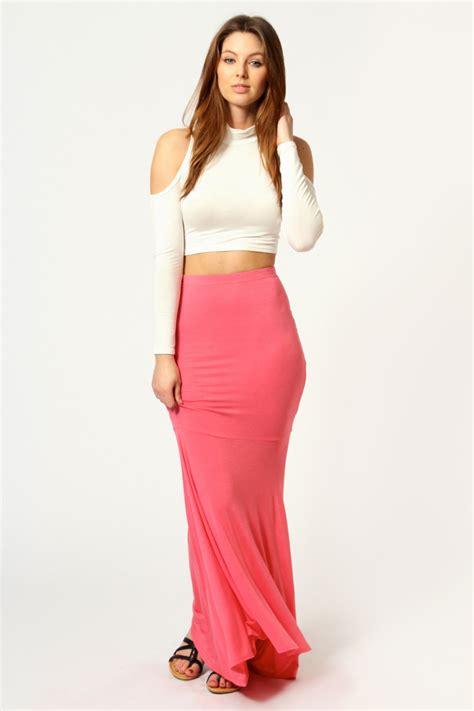 Savanabergo Pad Maxi Jersey Xl jersey fishtail maxi skirt sugar coral sugar coral shopping s fashion