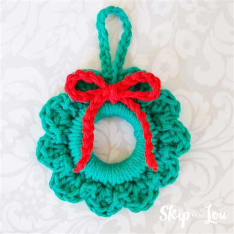 crochet christmas ornaments skip   lou