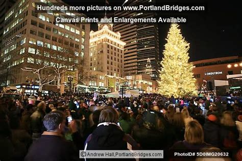 portland christmas tree lighting 2007 pioneer courthouse