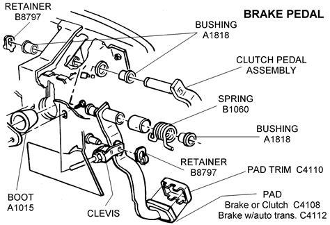 brake pedal assembly diagram brake pedal area diagram view chicago corvette supply