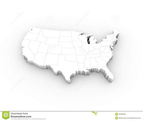 free stock images us map 3d map usa states
