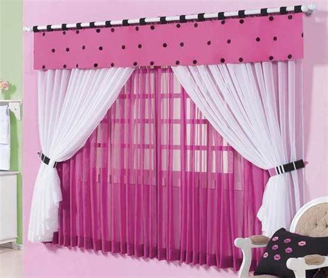 cortinas rosas cortina rosa con blanco bebes pinterest cortinas