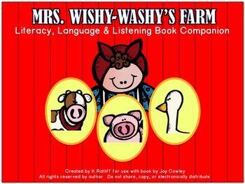 mrs wishy washys farm 0142402990 mrs wishy washy s farm a literacy language listening book companion
