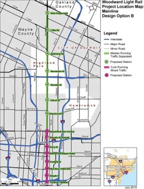 Detroit Light Rail by Mile Road System Detroit