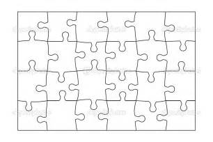 Jigsaw Puzzle Template by Best Photos Of Jigsaw Puzzle Template 8 5x11 10