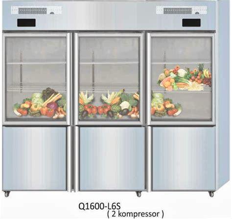 Lemari Es Freezer jual lemari es pendingin combi glass door cooler freezer 6 rak q1600 l6s mesin mesin