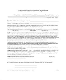 vehicle lease agreement template vehicle lease agreement 9 free pdf documents