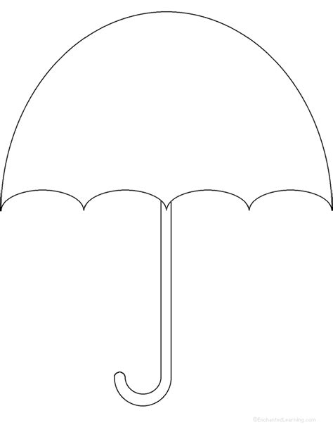 umbrella template umbrella perimeter poem printable worksheet