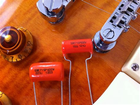 vintage orange drop capacitors guitar tone capacitors pio tone caps orange drop caps vintage guitar tone caps