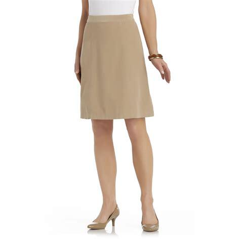 basic editions s gored corduroy skirt