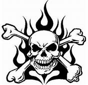 Skull And Flames Vinyl Decal/sticker Truck Car Jeep Window