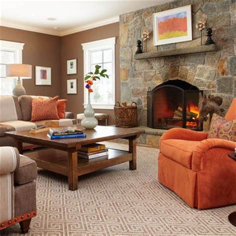 Orange Living Room Decor Orange Decor Brown Living Room David