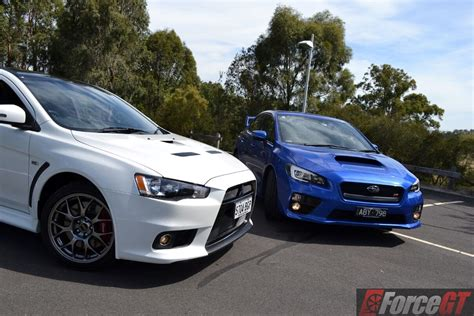 subaru vs mitsubishi 2015 golf r vs lancer evo vs wrx sti autos post