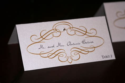 how do wedding place cards work gold scroll wedding place cards chic shab design studio inc