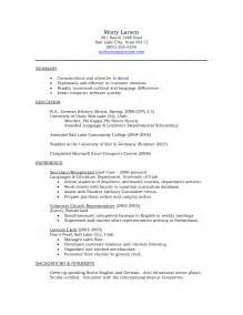 language resume resume for language