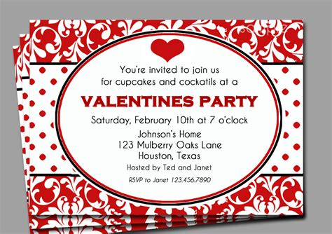 valentines invitation s invitation printable or printed with free