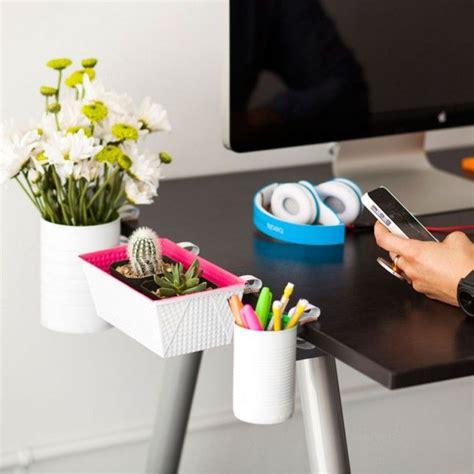 desk saver organization system major space saver alert diy clip on desk organizers