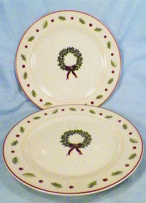 merry brite holiday home salad plates christmas wreath holly china plate ebay