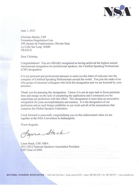 Confirmation Letter Wedding Venue Benefits Christine Morlet Speaker