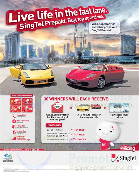 Prepaid Gift Cards Singapore - prepaid hi card top up n win 187 singtel smartphones tablets home mobile broadband